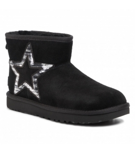 UGG DONNA CLASSIC MINI STAR STIVALI BLACK