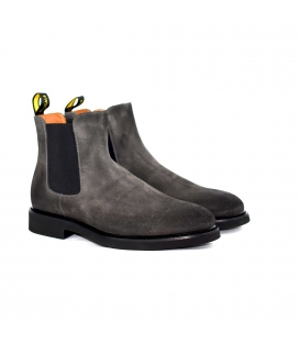 DOUCAL'S CHELSEA BOOT (GM) OIL LAVAGNA+F.DO NERO DU1343GENOUF011NN03
