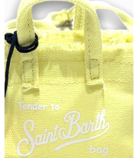 MC2 SAINT BARTH BORSA PORTACHIAVI IN CANVAS GIALLA CON TRACOLLA