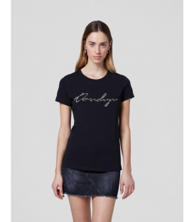 DONDUP S007 JS0241D BY8 DD 999 T-SHIRT IN JERSEY NERO